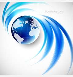 Abstract soft blue wave background vector image