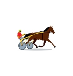 Harness racing sign vector image