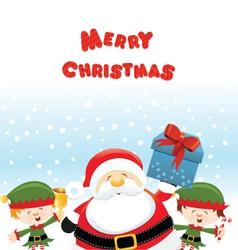 Santa With Elf vector image vector image