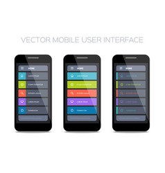 set of home pages for mobile ui vector image vector image