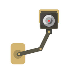surveillance or cctv camera flat isolated vector image