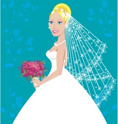 wedding gown vector image vector image