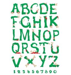 zombie alphabet vector image vector image