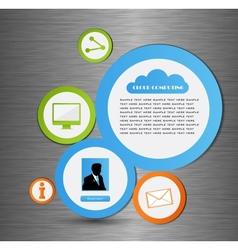 Abstract web design bubble vector image vector image