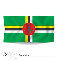 Flag of Dominica vector image