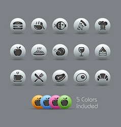 Food Icons 1 Pearly Series vector image vector image