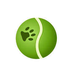 green ball toy for pets icon vector image