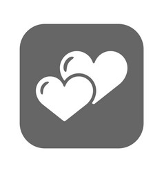 heart icon flat design best icon vector image vector image