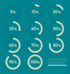 round progress bar circle image percentage vector image