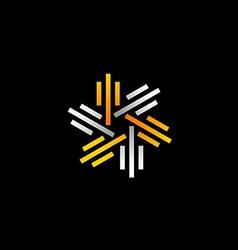 stripe line circle abstract logo vector image vector image