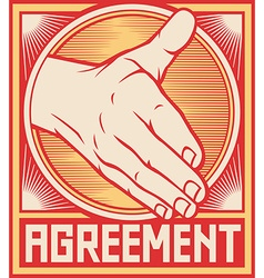 Agreement handshake design vector image vector image