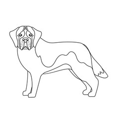 Beagle single icon in outline stylebeagle vector