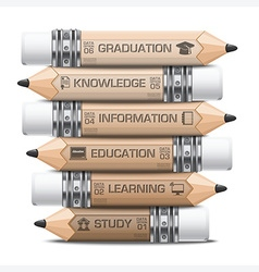 Education And Learning Infographic With Tag Step vector image vector image