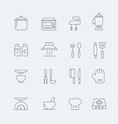 kitchen thin line symbol icon vector image vector image