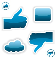 Like and unlike icons vector image vector image