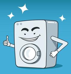 Washing machine character vector image vector image