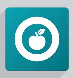 flat apple icon vector image