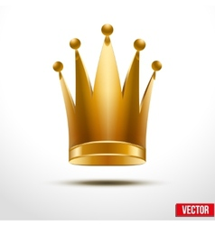 Gold classic royal Crown of Queen or Princess vector image