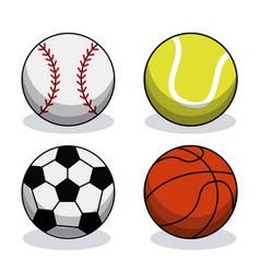 set sport balls equipment image vector image vector image