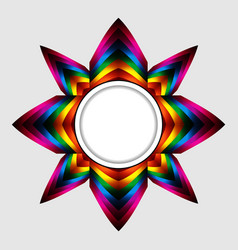 abstract colourful star with copy space border vector image