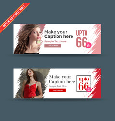 Abstract fashion web banners vector