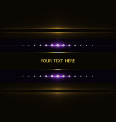 Abstract light frame vector