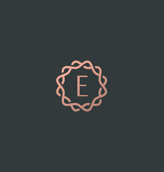 Abstract linear monogram letter e logo icon design vector