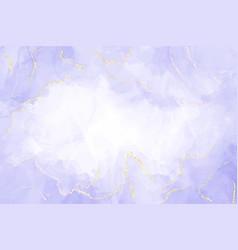 Abstract luxury lavender liquid watercolor vector