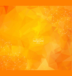 abstract polygonal orange red low poly background vector image
