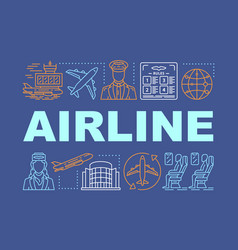 Airline word concepts banner tourism and travel vector