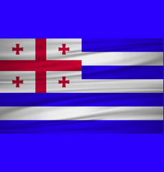 Ajaria flag ajaria flag blowig in the wind eps 10 vector