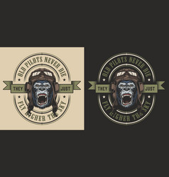apparel design with gorilla vector image