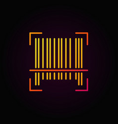 Barcode colorful linear icon on dark vector