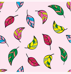 beautiful seamless pattern with tropical bird vector image