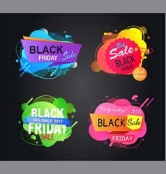 best sale and deal shops black friday offer vector image