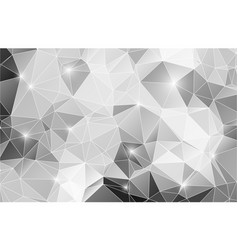 black and white abstract background shiny polygon vector image