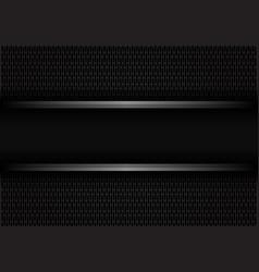 Black metal line banner on dark rounded rectangle vector