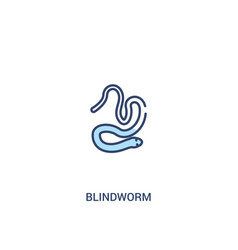 Blindworm concept 2 colored icon simple line vector