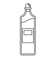 Bottle juice fresh healthy outline vector