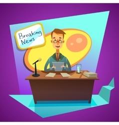 Breaking news cartoon vector