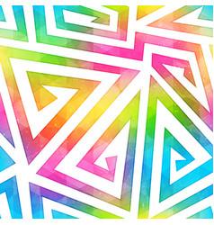 bright maze seamless pattern vector image