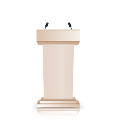 brown stage stand or debate podium vector image
