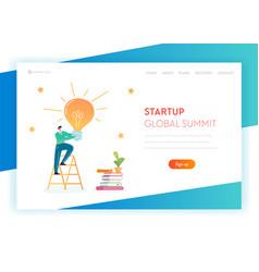 Business idea brainstorming concept landing page vector