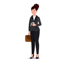 business woman in suit emotions poses vector image