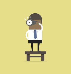 businessman with binoculars vision concept vector image