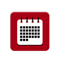 calendar app button vector image