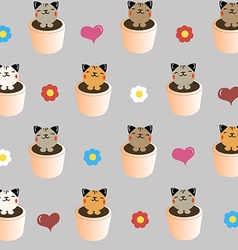 cats in a baskets vector image