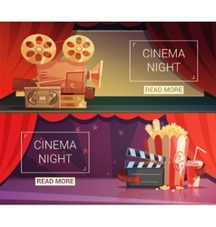 Cinema Banners Set vector image