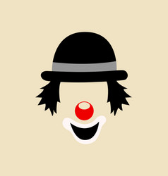 Clown face symbol vector