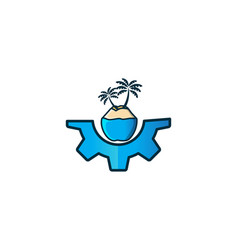 coconut tree logo designs inspiration isolated on vector image
